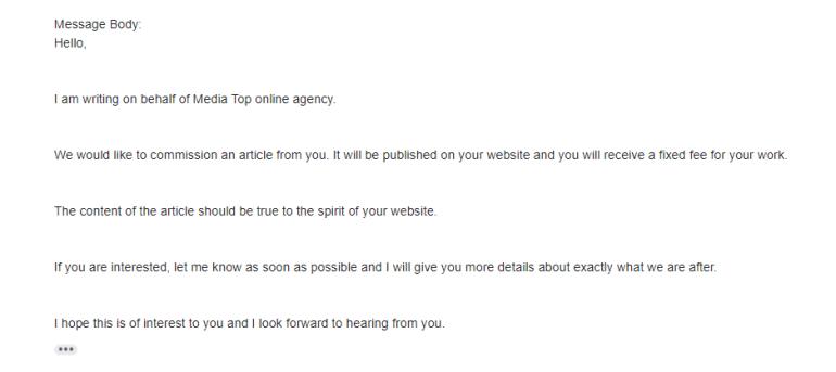 sponsorships emails