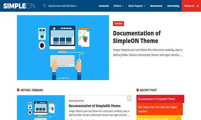 Simpleon-Blogger-Template