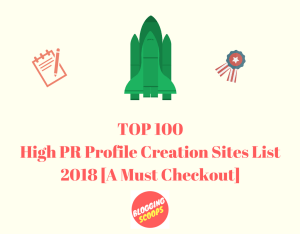 Best 400+ High PR Profile Creation Sites List 2018
