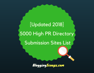 5000 Directory Submission Sites List {Updated 2018}