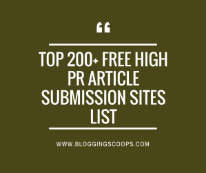 {Updated 2018} Top Free 200+ Article Submission Sites List