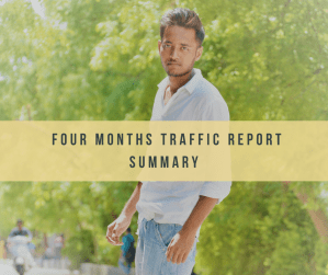 BloggingScoops Four months traffic report