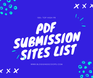 {100+} PDF Submission Sites List [Updated 2018]