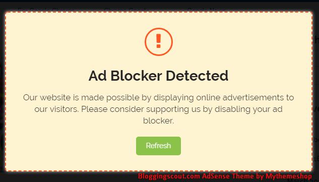 AdSense Theme Anti-Ad Blocker Screenshot