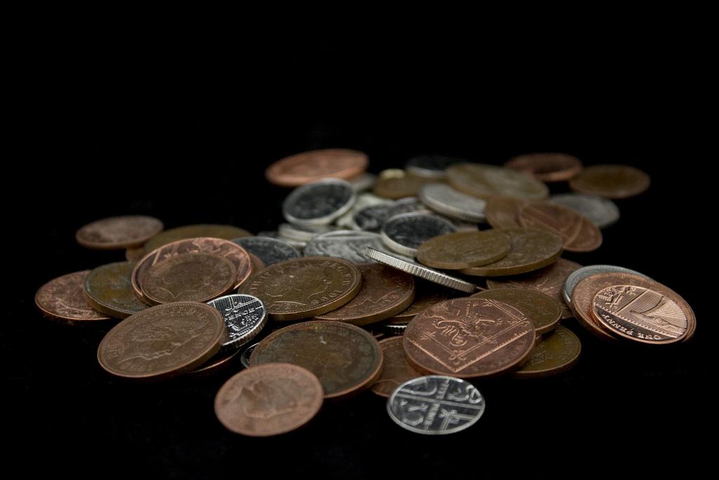 A little bit of money (in pennies)