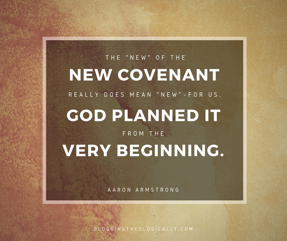 the new covenant The book of hebrews describes the new covenant as better than the old covenant (heb 8:1-2, 6, nrsv) the obvious question, then, is why did god establish the old covenant if.