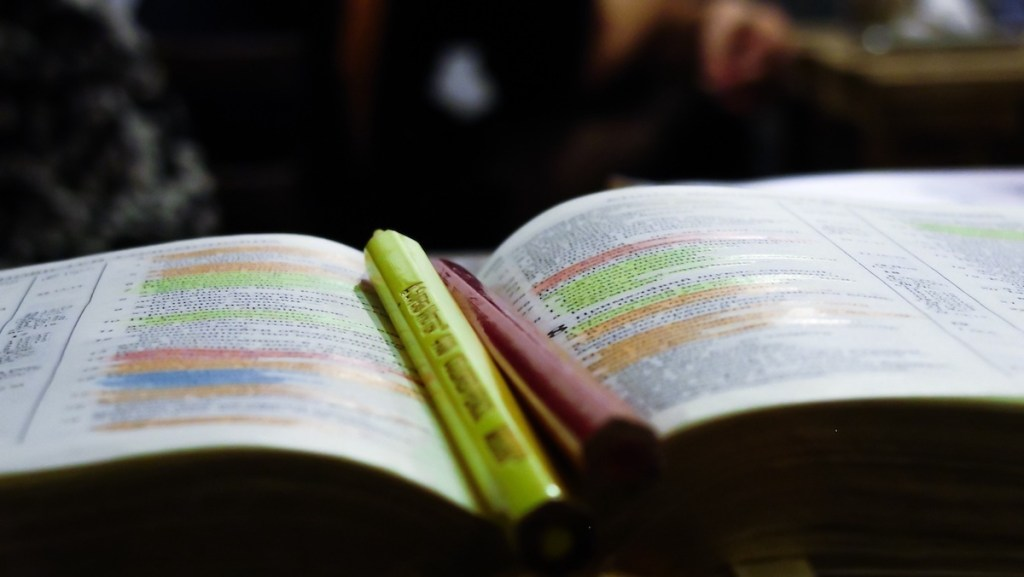 Highlighted Bible