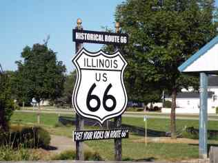 Illinois Route 66 Sign