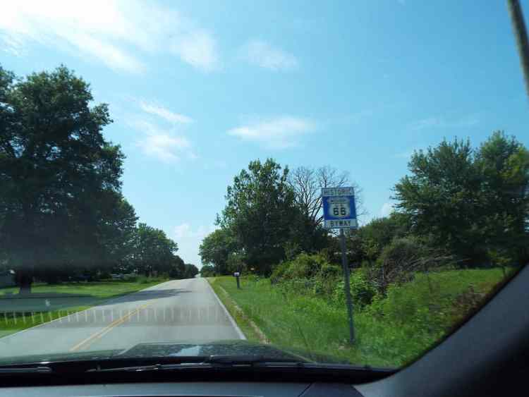 Historic Route 66 byway sign in Missouri