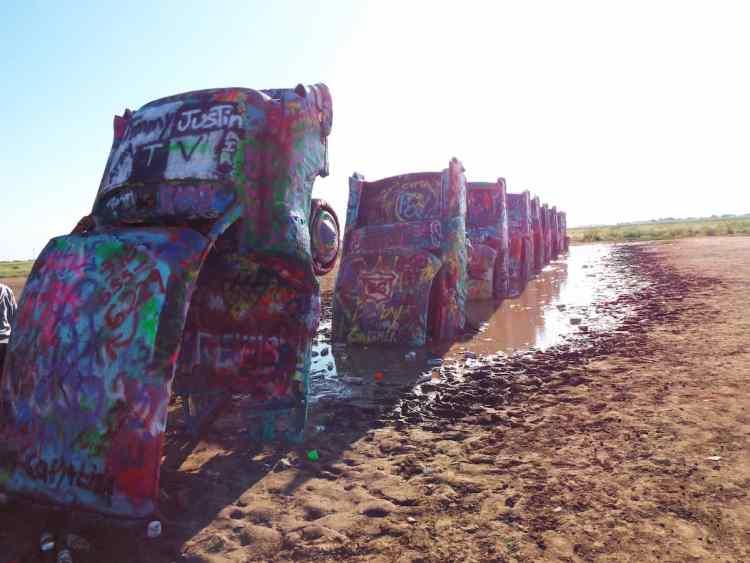 Cadillac Ranch Amarillo Texas on route 66