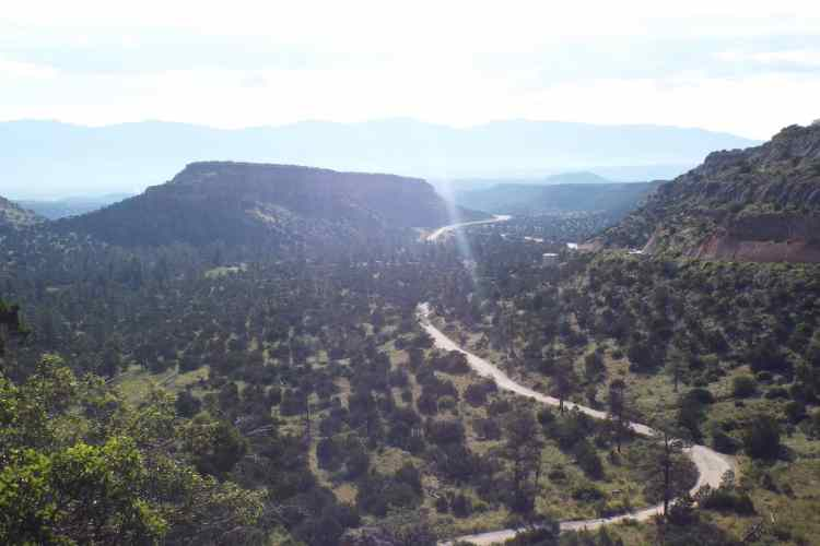 mountains over the santa fe national forest