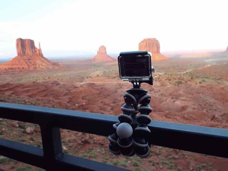 The Butes in Monument Valley from our hotel balcony