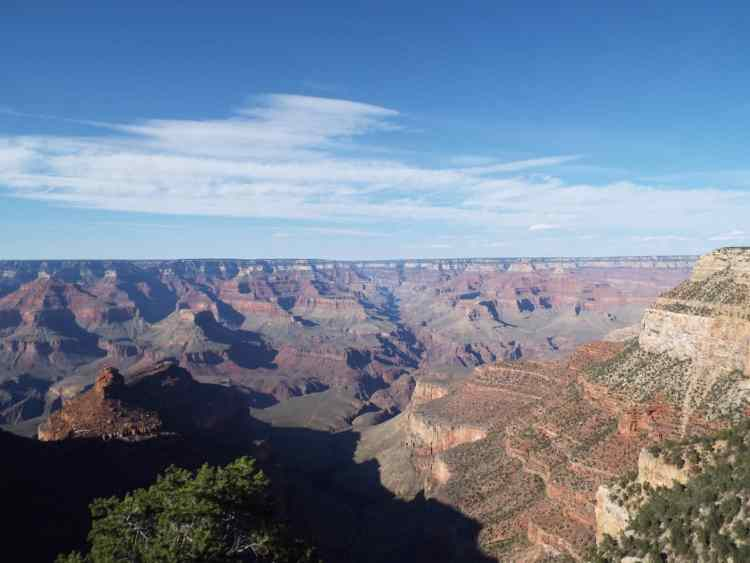 Our first glimpse of the Grand Canyon