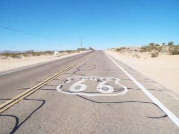 Route 66 shield in California