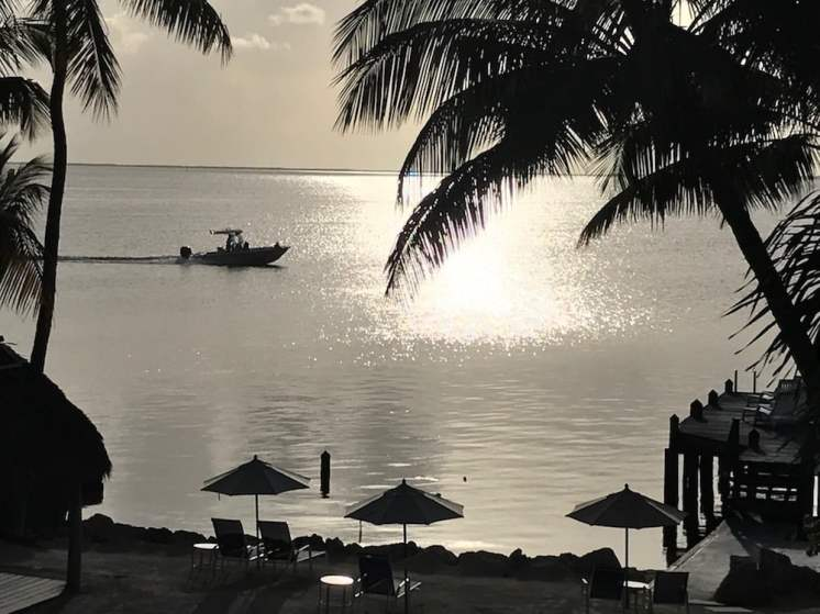 The View from our room at Key Largo's Azul Del Mar Boutique Hotel