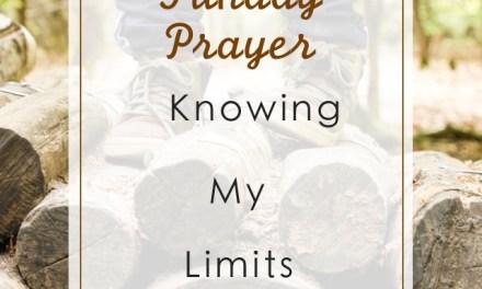 Sunday Prayer: Knowing My Limit