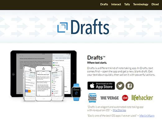 Drafts iOS