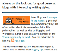 Example of guest blogger post footer bio