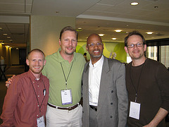 Jesse Peterson, Chris Cree, David Bullock and friend at SOBCon 2008