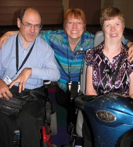 Darrell Hyatt, Lorelle VanFossen, and Glenda Watson Hyatt