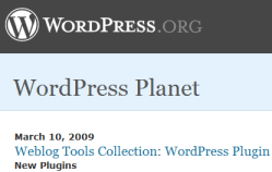 wordpress planet-official aggregator for WordPress