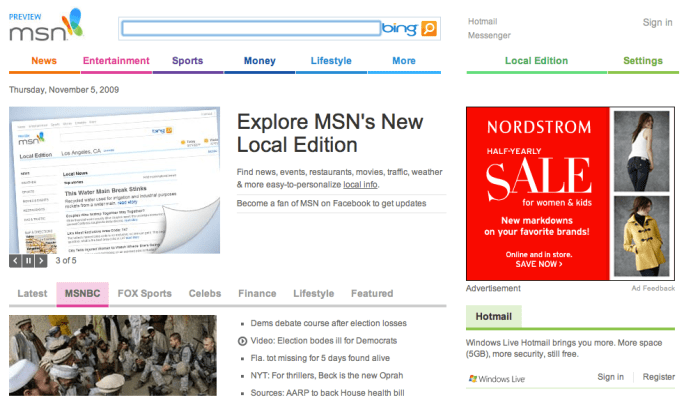 Microsoft shows off overhauled MSN home page