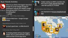 TweetDeck Google Buzz Feature - Screenshot