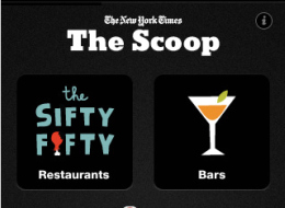"""New York Times Enters Location Based Services Game With """"The Scoop"""""""