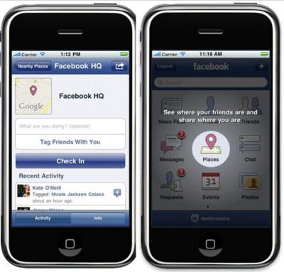 Facebook Places Debuts For iPhone, iPod Touch Devices