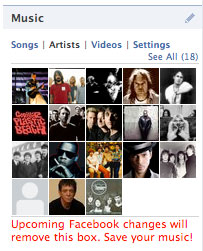 Facebook Music Widget