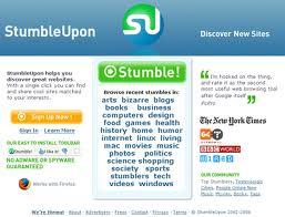 StumbleUpon Website Screenshot