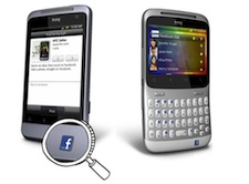 HTC Salsa and ChaCha with Dedicated Facebook Buttons - Small Demo Size
