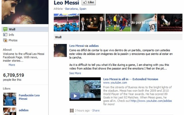 Seven Million Facebook Page Likes In 7 Hours: Leo Messi