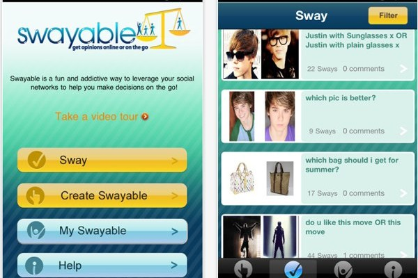 Swayable iPhone Screenshots