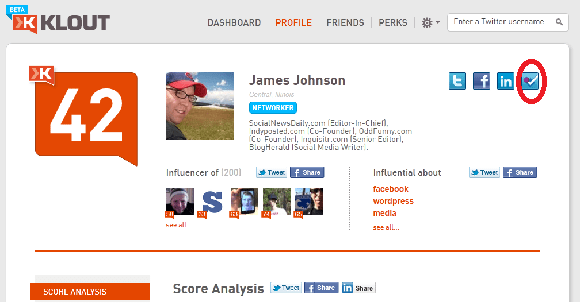Klout With Foursquare Scoring