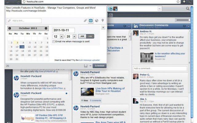 HootSuite Platform Adds LinkedIn Company Pages And Groups