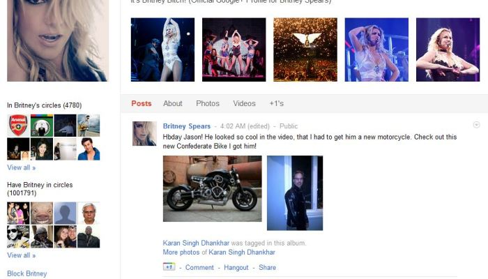 Britney Spears First Google+ User To Reach One Million Circles