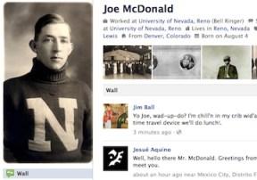 Joe McDonald Fake Facebook Page