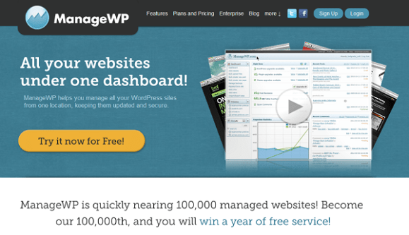 ManageWP Frontpage