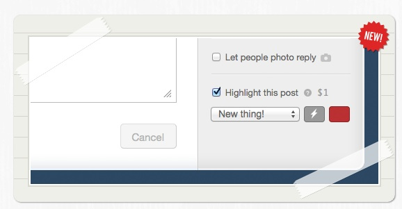 Tumblr Highlighted Posts Feature