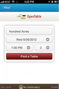 Foursquare and Open Table