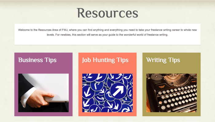 Freelance Writing Jobs Resources