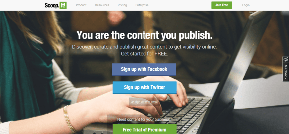 You are the content you publish.   Scoop.it