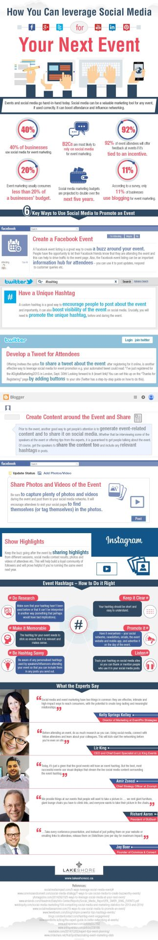 leverage social media for events
