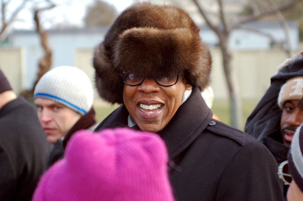 Rapper, entrepreneur, and furry hat enthusiast Jay-Z.