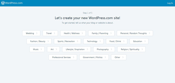 wordpress free blogging platform