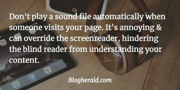 make your blog more accessible to blind readers