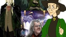 Batalla: Minerva McGonagall y Alastor Moody contra Bellatrix Lestrange y Lucius Malfoy