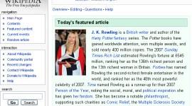 Autora JK Rowling, Artículo Destacado de Hoy en 'Wikipedia'