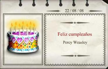 Feliz Cumpleaños, Percy Weasley